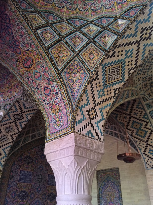 Shiraz, Moschea di Nasir ol Molk, interno.