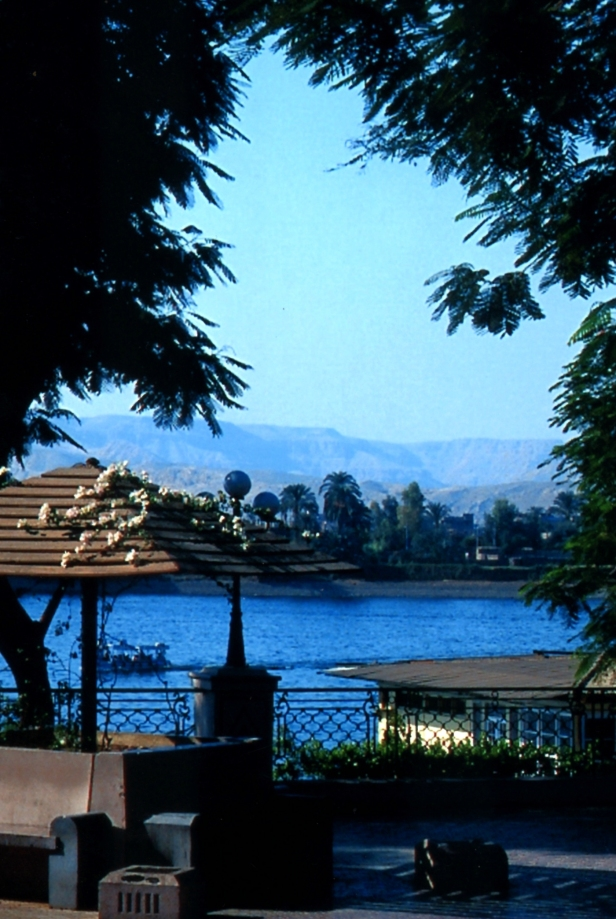 Luxor sulla riva del fiume Nilo.