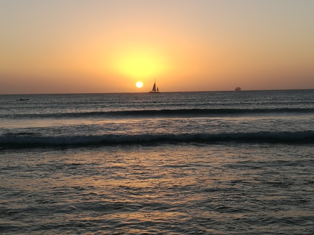 Arashi Beach, ultimo tramonto del 2016.
