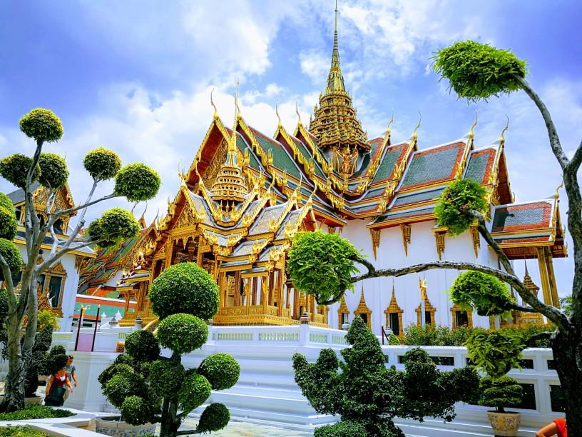 Il Grande Palazzo Reale di Bangkok, agosto 2019.