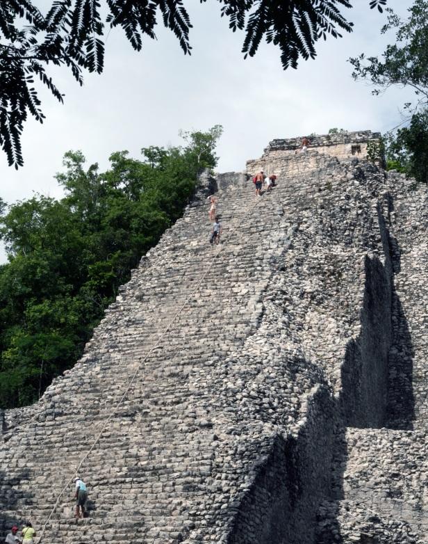 """La piramide di Nohoch Mul"", Coba."