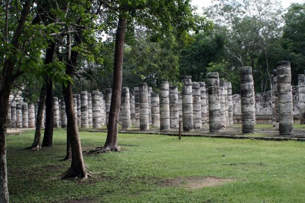 """""""Sala delle mille colonne"""", Chichén Itzá."""
