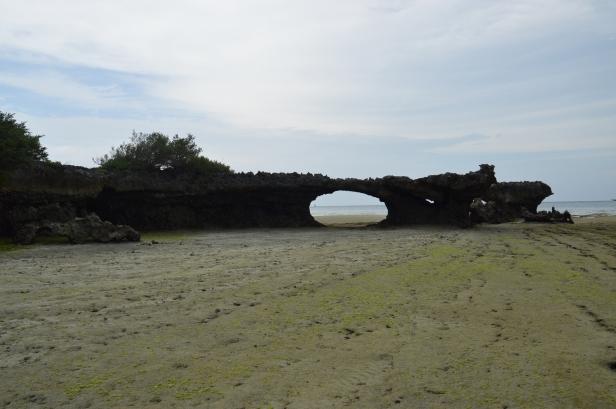 Isola di Kwale con la bassa marea.
