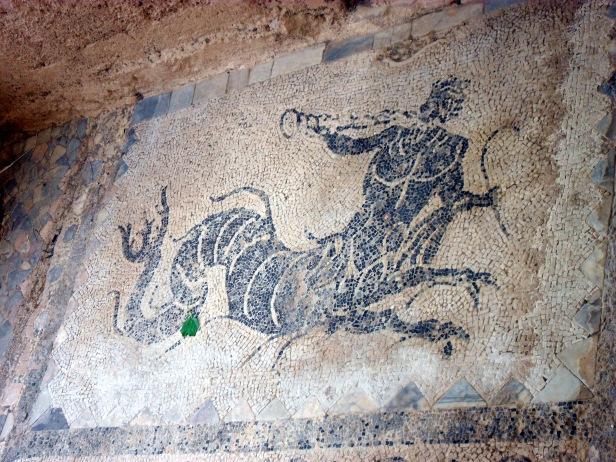 Mosaici villa romana, parco archeologico di Tindari.