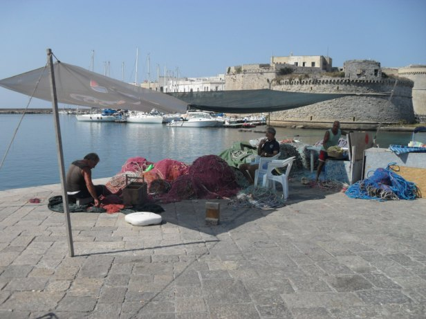 I pescatori a Gallipoli.