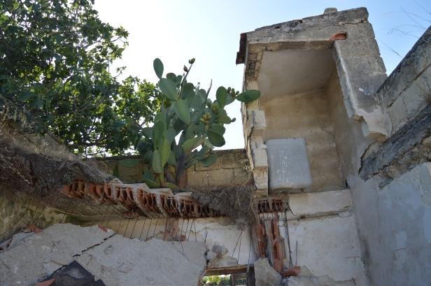 Contrada Marrella, casolare abbandonato e semi crollato degli anni '60 del Novecento.